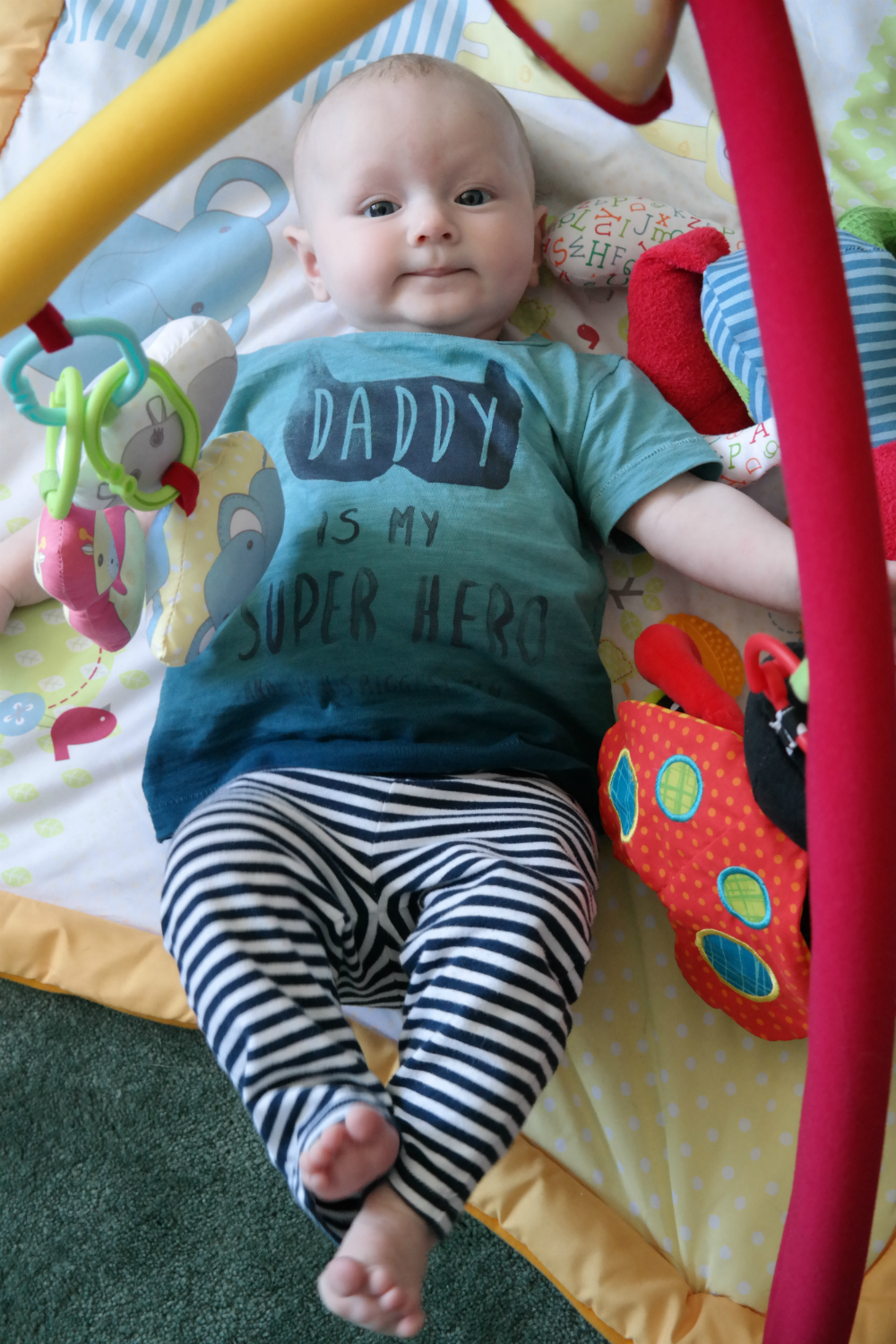 Matilda Rooftops: Style Icon (3-6 month edition) - Daddy is my Superhero tee