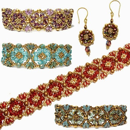 Batik Bracelet and Earrings