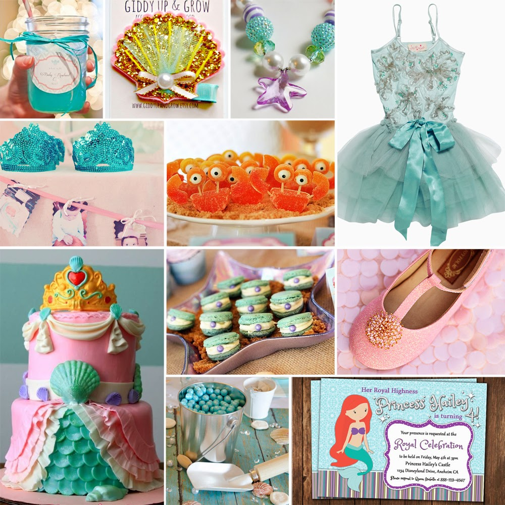 Jules 39 got style boutique girls clothing blog ariel the for Ariel birthday party decoration ideas