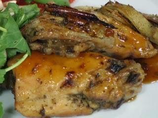 Pollo con miel asado al horno