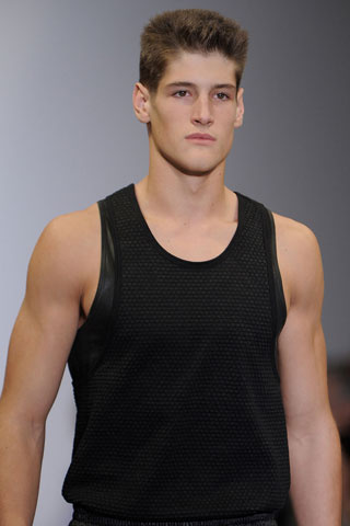Calvin Klein Men hairstyle summer 2012