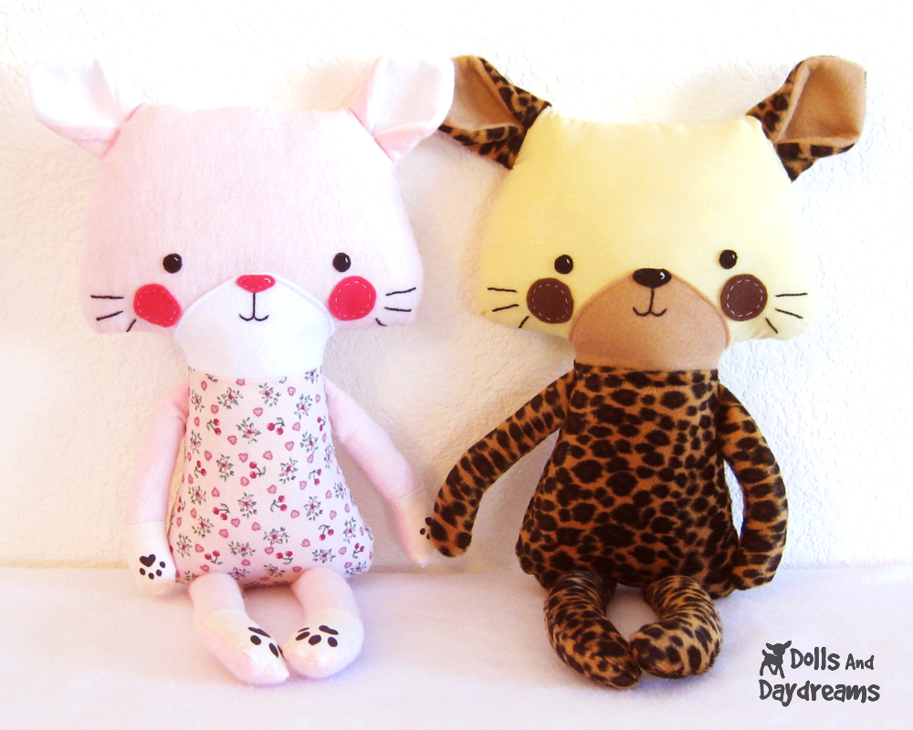 Free stuffed toy pattern frugal family fair dolls and daydreams doll and softie pdf sewing patterns cat jeuxipadfo Choice Image