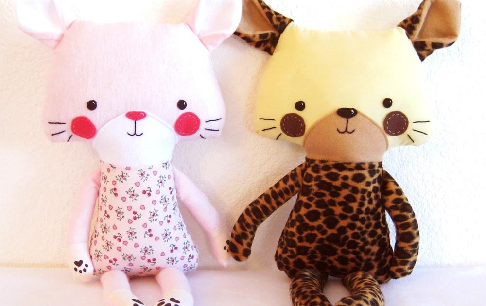 Dolly Donations: Cat Kitten Tiger Leopard PDF Softie Stuffed Toy ...