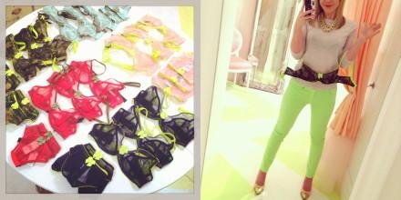 CLaudette lingerie, mesh lingerie, tulle bras, Spring 2013