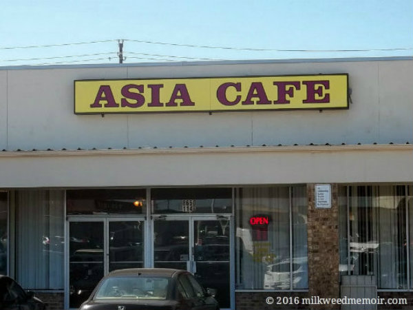 Storefront of genuine Chinese restaurant Asia Cafe in Austin, Texas