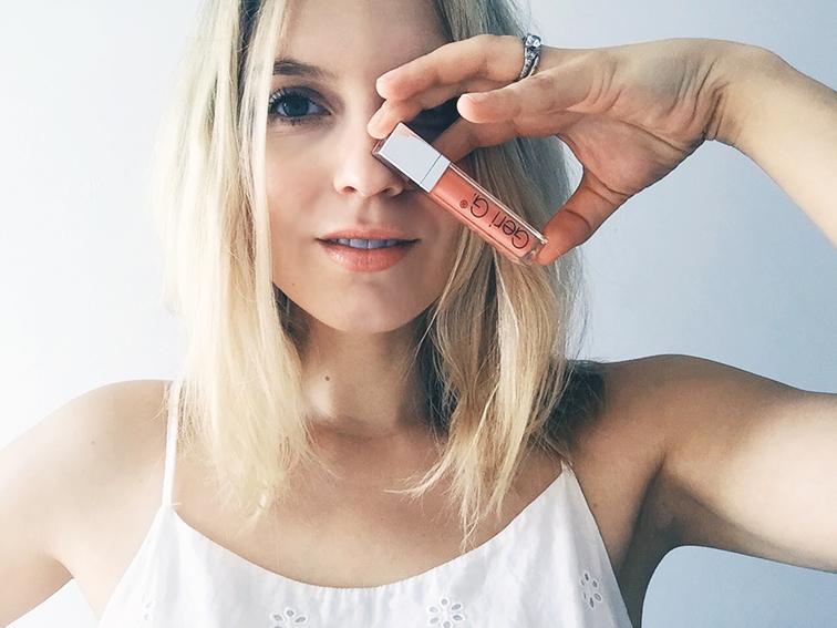 Geri G. Transceutical Canvas give away, lip gloss creme in peach