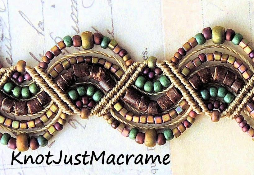 Micro macrame knotting by Sherri Stokey.