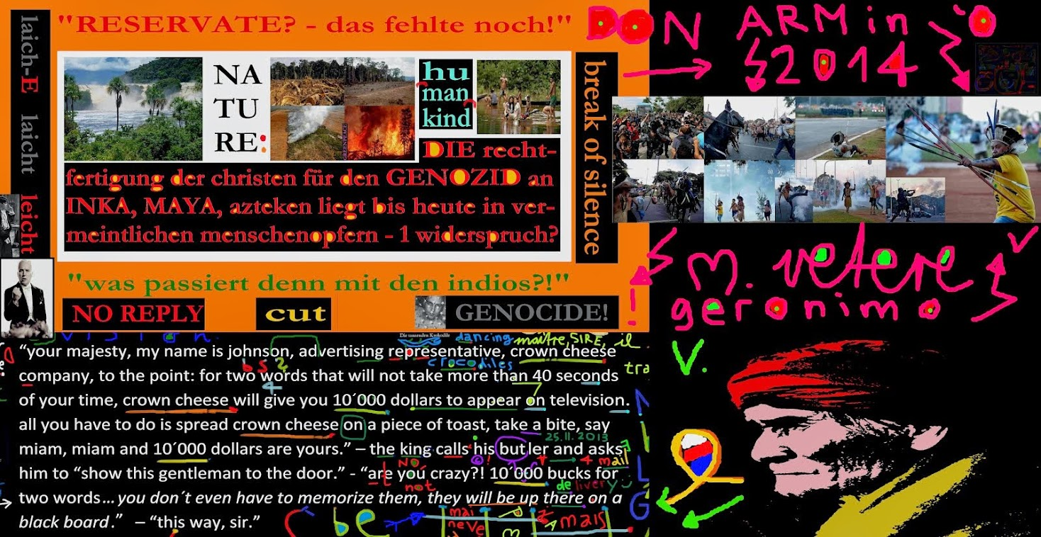 rainforest PROTECTION indios armin bollinger mischa vetere THE MENTAL REVOLUTION QUEEN of ENGLAND