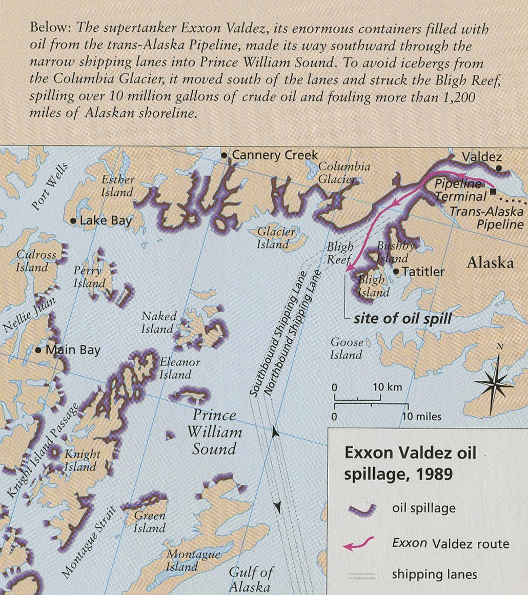 Exxon Valdez Oil Spill Map