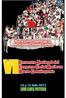 VI Encuentro del Congreso Social Hacia un Nuevo Constituyente.