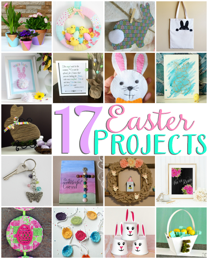 17 Easter Projects--Perfect for spring!  pitterandglink.com
