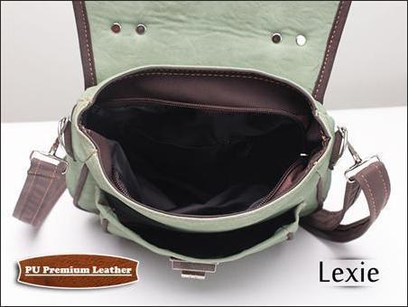 jual tas selempang wanita korea murah lexie hijau bagian dalam