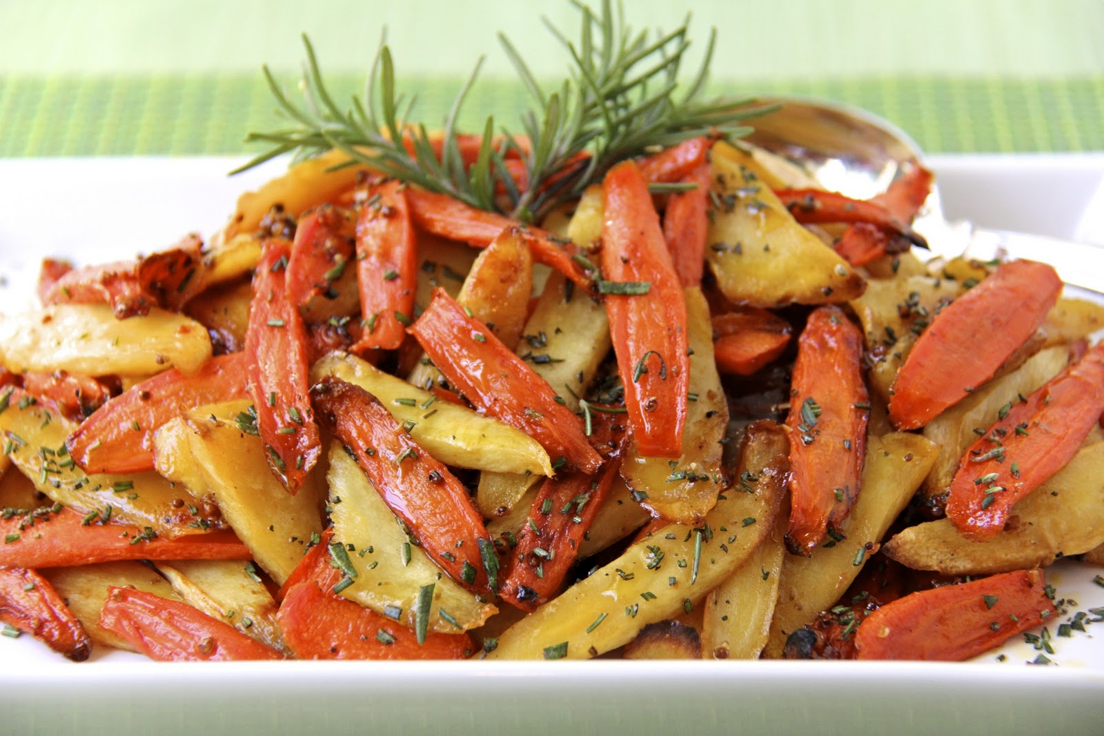 Simple Sticky Roasted Rosemary Root Veggies | The Café Sucre Farine