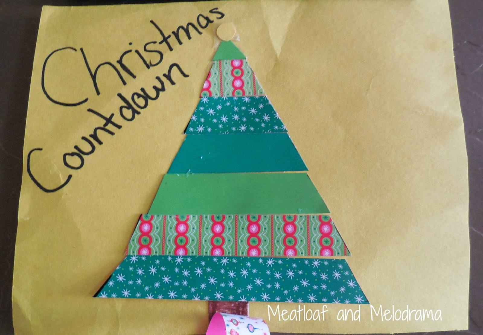 Christmas Countdown paper chain