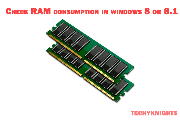 Check the RAM consumption in windows 8 or 8.1