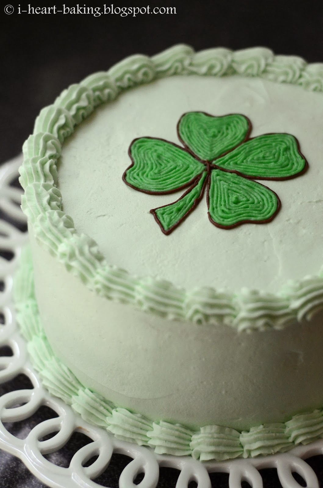 i heart baking chocolate mint layer cake for st patricks day