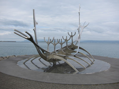 Viking Ship Monument in the Harbour of Reykjavik, Iceland