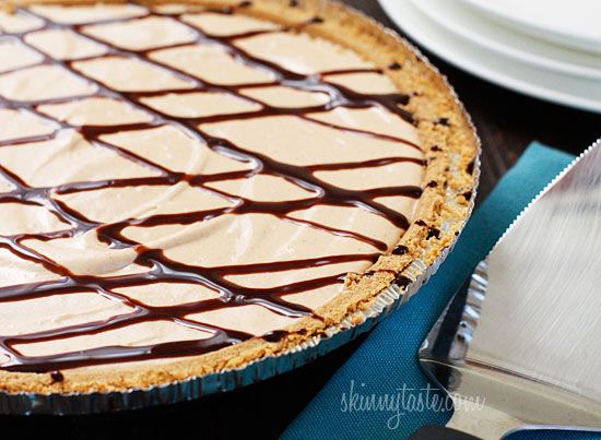 Skinny No-Bake Peanut Butter Pie   Skinnytaste