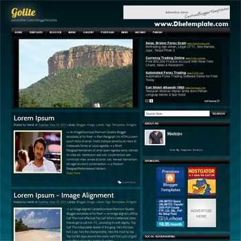 Golite blogger template. slideshow template blog. pagination for blogger template. magazine style blog template. template blog form wordpress theme