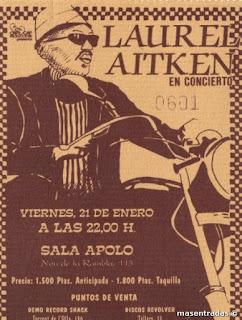 entrada de concierto de laurel aitken
