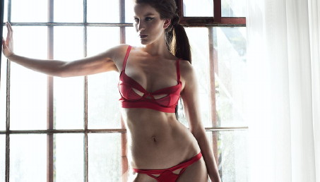 lascivious, helena lingerie, red lingerie