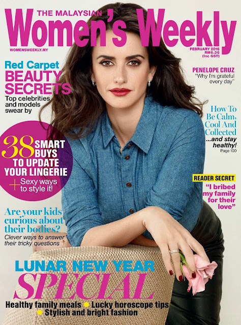Actress, Model, @ Penélope Cruz - Women's Weekly Malaysia, February 2016