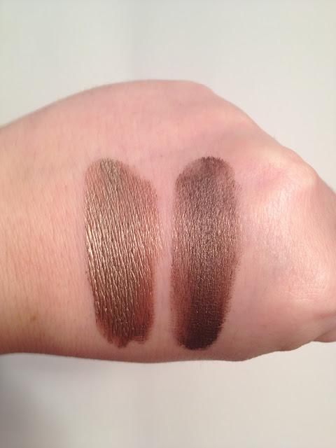 Maybelline Color Tattoo Rich Mahogany vs. Make Up For Ever Aqua Cream 15
