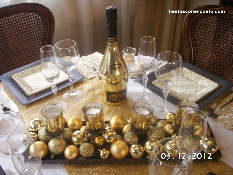 Fiestas con encanto decoraci n de mesa nochevieja - Decoracion mesa nochevieja ...