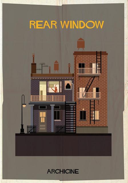 {Art} Architecture in film: Archicine by Frederico Babina | Rue du chat qui peche | Rear window by Alfred hitchcock