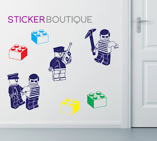 Lego Cops And Robbers Wall Sticker