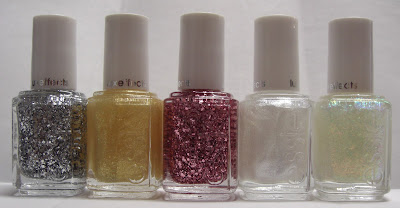 Essie Luxeffects Set In Stone, As Gold As It Gets, A Cut Above, Pure Pearlfection, Shine of the Times
