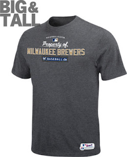 Big and Tall Property of Brewers T-shirt