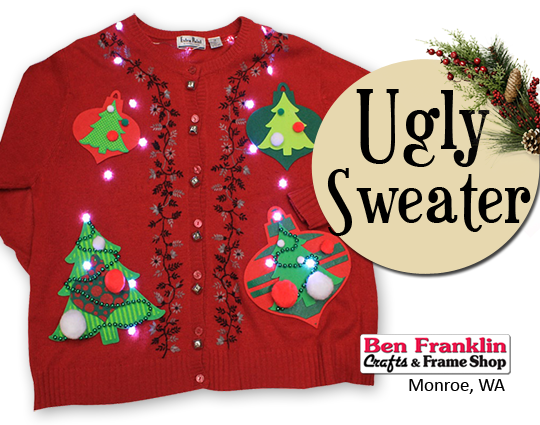 Ugly Christmas Sweater - get your embellishments here!