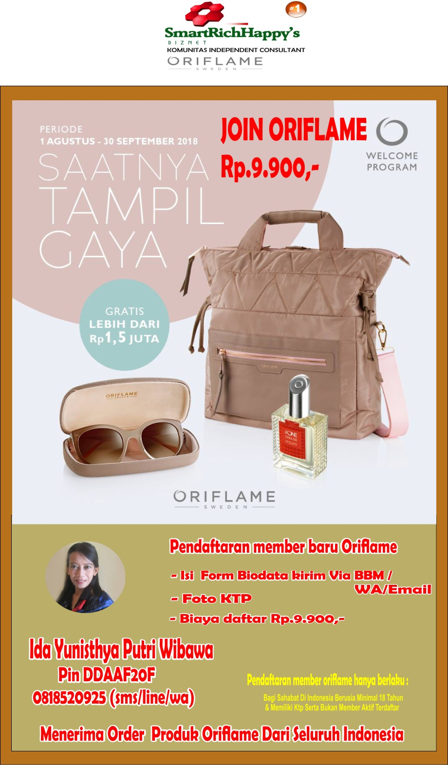 Promo Katalog Oriflame Ida Yunisthya Putri 0818520925
