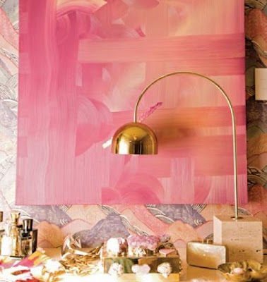 pink color scheme sail and swan