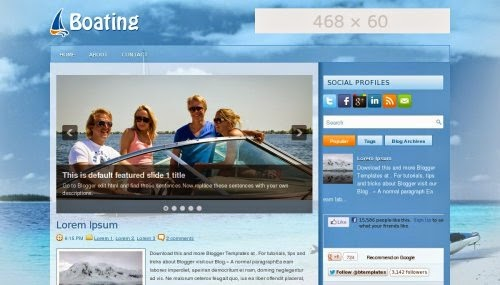 Boating - Free Blogger Template