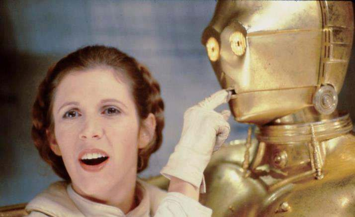Princesa Leia y C3PO