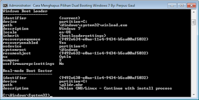 Cara Menghapus Pilihan Dual Booting Windows 7