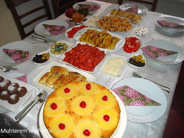 kahvaltı menüsü
