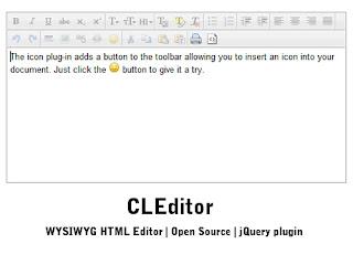 CLEditor : lightweight WYSIWYG HTML editor jQuery plugin