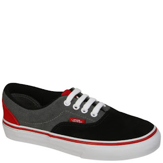 Vans Era Tri-Tone Suede Trainers - Black/Red