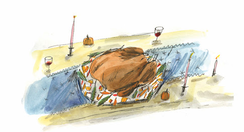 Elizabeth Graeber Thanksgiving Turkey Illustration