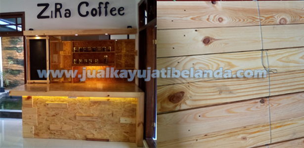 kombinasi kayu jati belanda dengan waferboard