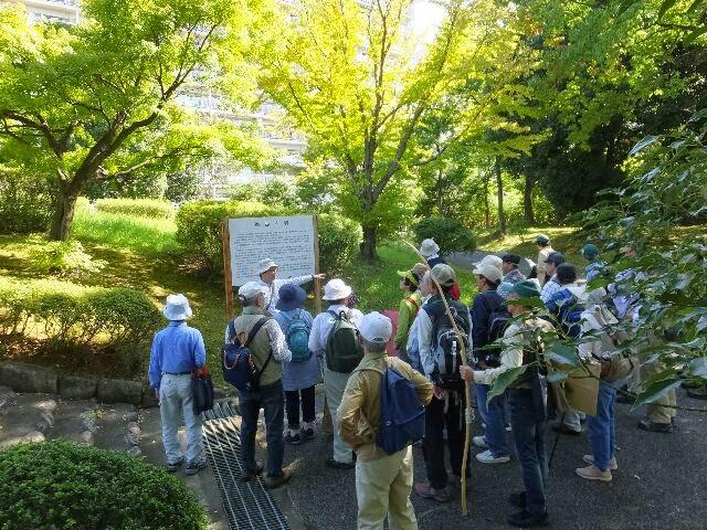 市埋蔵文化財研究所嘱託の丸川先生のお話を聞く参加者たち。