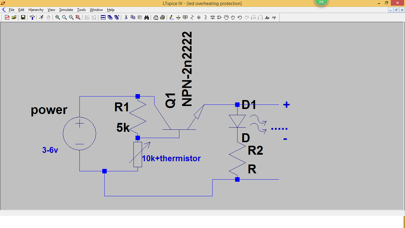 Transistors Projects Led Overheating Protection Using Transistor Project Circuit 15