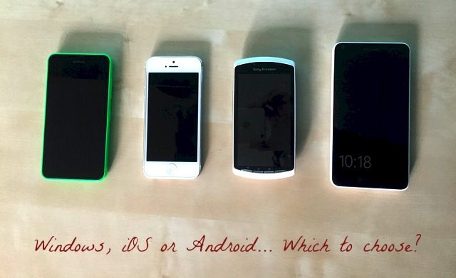 Morgan's Milieu | Choosing a Mobile Phone for Your Child: Photo of different phones side by side.