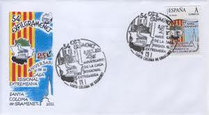 2012. 54a Exposició filatèlica a Santa Coloma de Gramenet