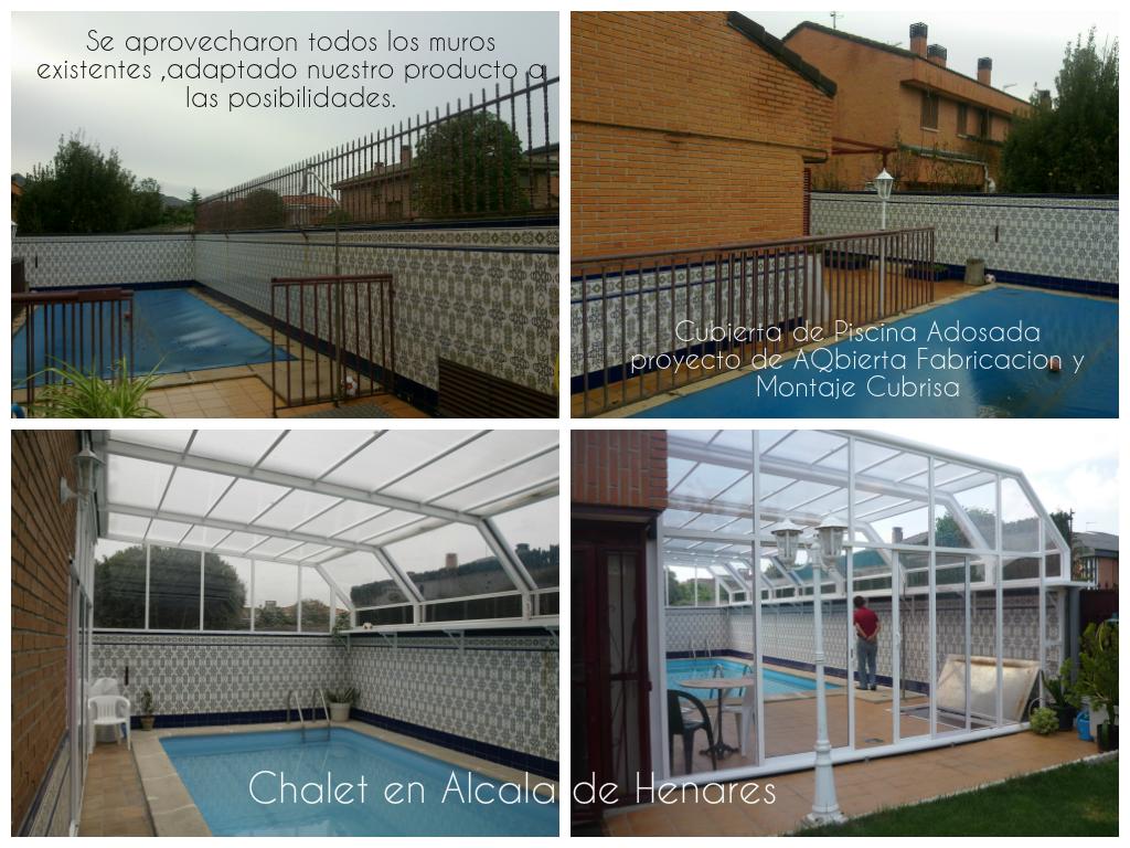 Cubiertas de piscinas aqbierta cubierta de piscina en for Piscina cubierta alcala de henares