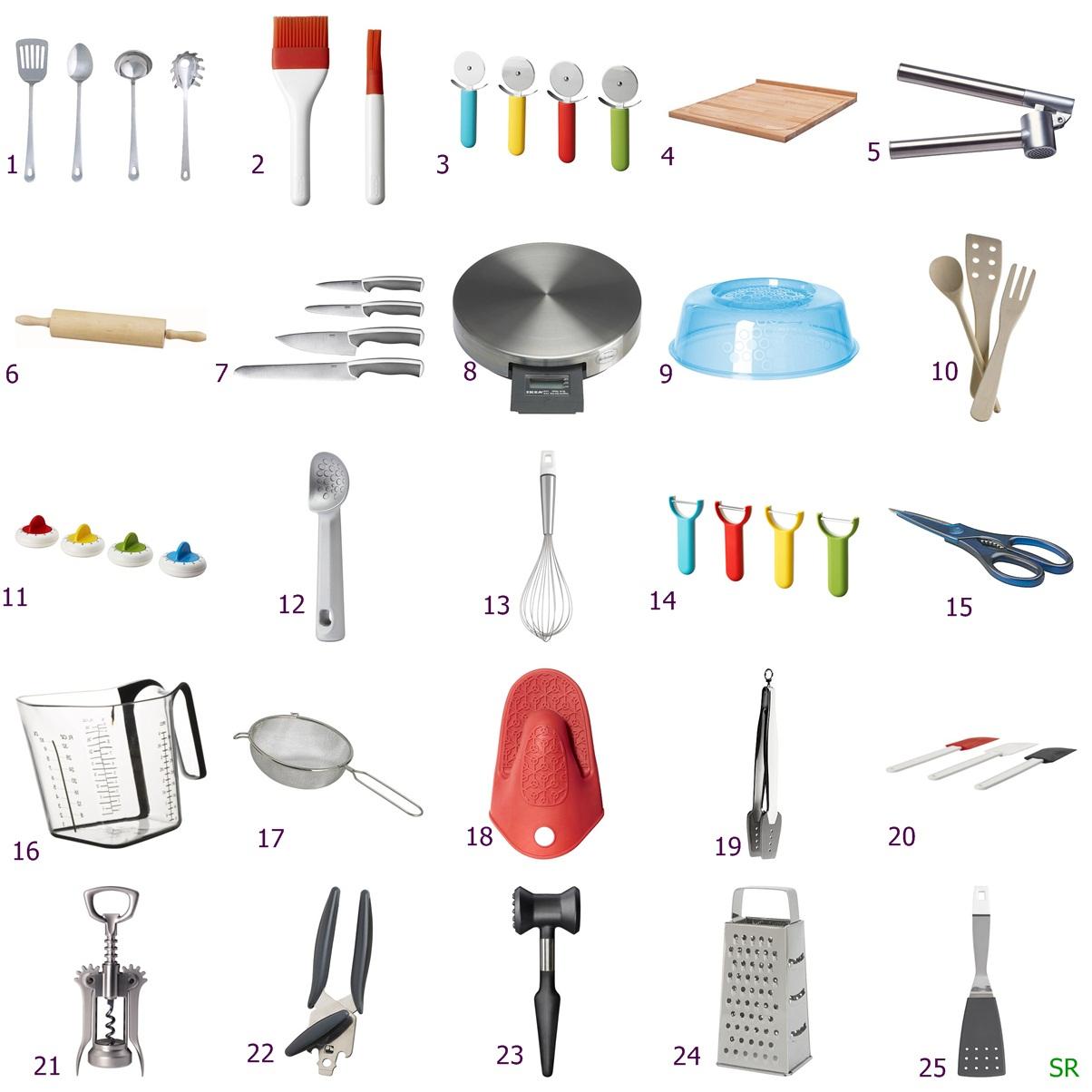 No conforto da minha cozinha utens lios de cozinha for Lista utensilios para bano