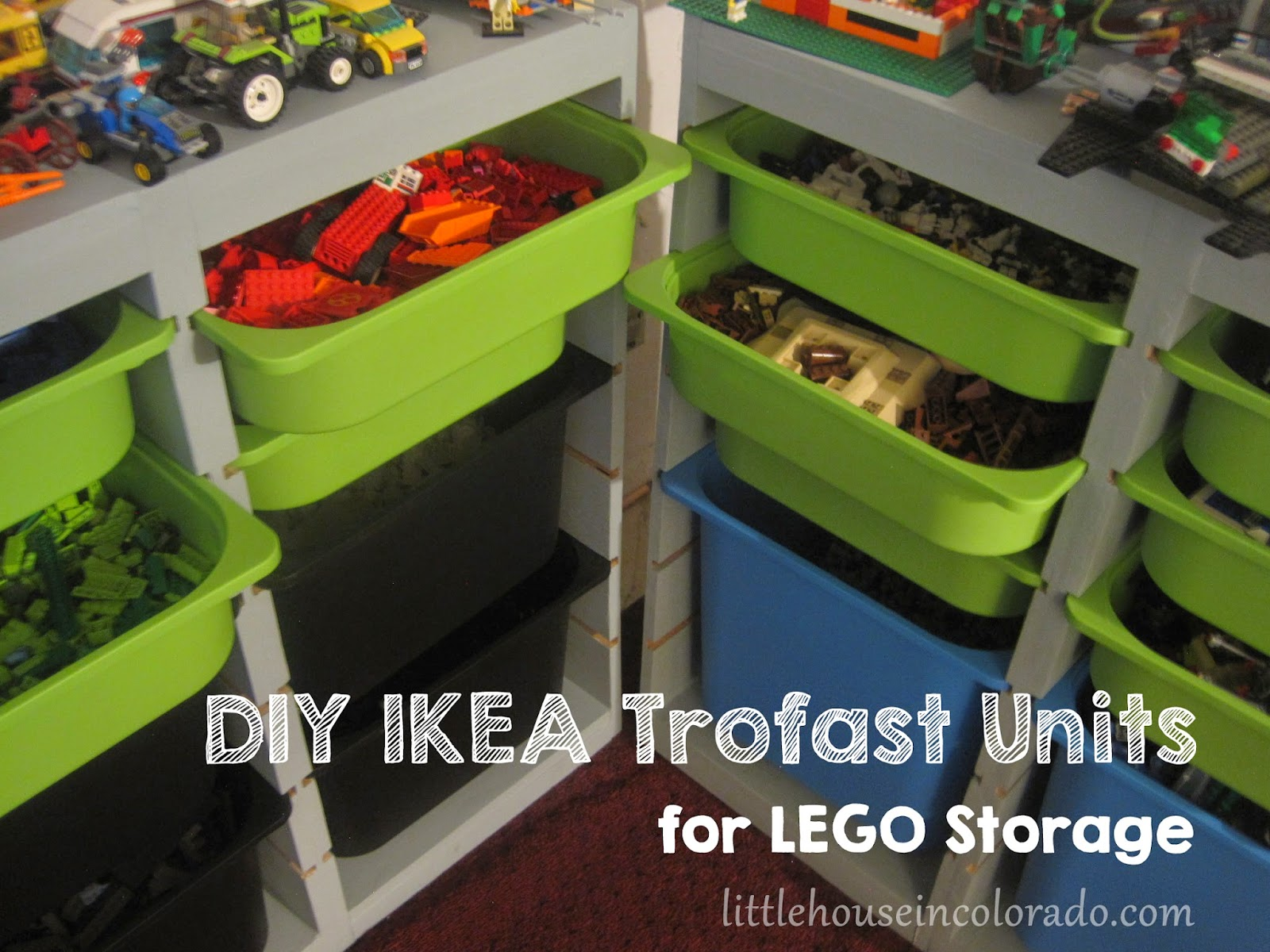 Little House In Colorado Diy Ikea Trofast For Lego Storage